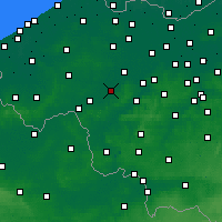 Nearby Forecast Locations - Waregem - Kaart