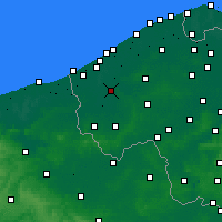 Nearby Forecast Locations - Diksmuide - Kaart