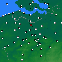 Nearby Forecast Locations - Wachtebeke - Kaart