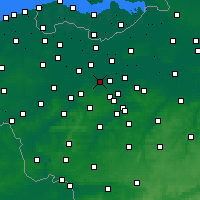 Nearby Forecast Locations - Wetteren - Kaart