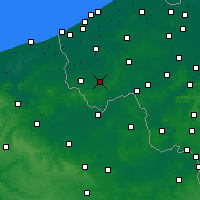 Nearby Forecast Locations - Ieper - Kaart