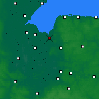 Nearby Forecast Locations - King's Lynn - Kaart