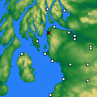 Nearby Forecast Locations - Inverkip - Kaart