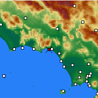 Nearby Forecast Locations - Formia - Kaart