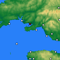 Nearby Forecast Locations - Llanelli - Kaart