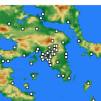 Nearby Forecast Locations - Nea Ionia - Kaart