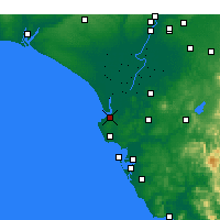 Nearby Forecast Locations - Sanlúcar de Barrameda - Kaart