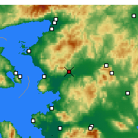 Nearby Forecast Locations - Bergama - Kaart
