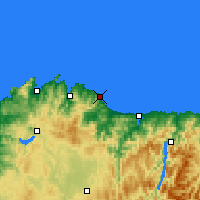 Nearby Forecast Locations - Burela - Kaart
