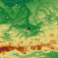 Nearby Forecast Locations - Gorna Orjachovitsa - Kaart