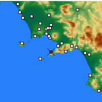Nearby Forecast Locations - Sorrento - Kaart