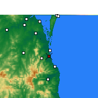 Nearby Forecast Locations - Gold Coast - Kaart