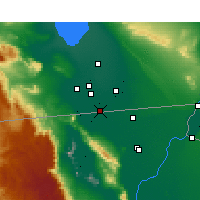 Nearby Forecast Locations - Calexico - Kaart