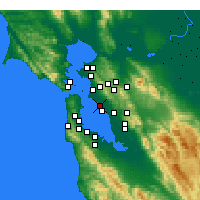 Nearby Forecast Locations - Alameda - Kaart