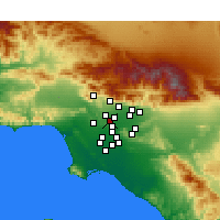 Nearby Forecast Locations - Alhambra - Kaart