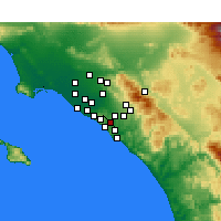 Nearby Forecast Locations - Aliso Viejo - Kaart