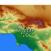 Nearby Forecast Locations - Altadena - Kaart