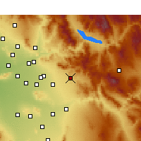 Nearby Forecast Locations - Apache Junction - Kaart