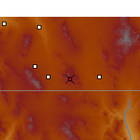 Nearby Forecast Locations - Bisbee - Kaart