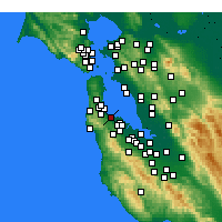 Nearby Forecast Locations - Burlingame - Kaart