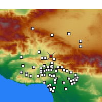 Nearby Forecast Locations - Canyon Country - Kaart