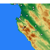 Nearby Forecast Locations - Carmel Valley Village - Kaart