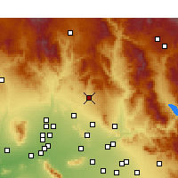 Nearby Forecast Locations - Cave Creek - Kaart