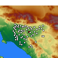 Nearby Forecast Locations - Chino Hills - Kaart