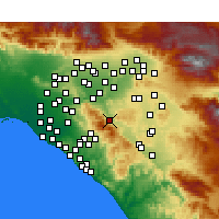 Nearby Forecast Locations - Corona - Kaart