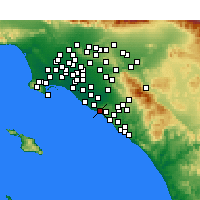 Nearby Forecast Locations - Corona del Mar - Kaart