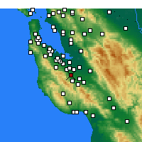 Nearby Forecast Locations - Cupertino - Kaart