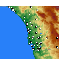 Nearby Forecast Locations - Del Mar - Kaart