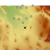 Nearby Forecast Locations - Eloy - Kaart