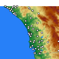 Nearby Forecast Locations - Encinitas - Kaart