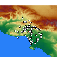 Nearby Forecast Locations - Encino - Kaart