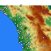 Nearby Forecast Locations - Escondido - Kaart