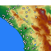 Nearby Forecast Locations - Fallbrook - Kaart
