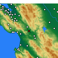 Nearby Forecast Locations - Gilroy - Kaart