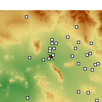 Nearby Forecast Locations - Goodyear - Kaart