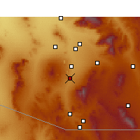 Nearby Forecast Locations - Green Valley - Kaart