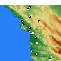Nearby Forecast Locations - Grover Beach - Kaart