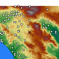 Nearby Forecast Locations - Hemet - Kaart