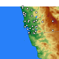 Nearby Forecast Locations - Imperial Beach - Kaart