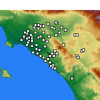 Nearby Forecast Locations - Irvine - Kaart