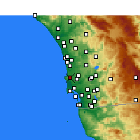 Nearby Forecast Locations - La Jolla - Kaart
