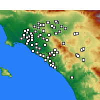 Nearby Forecast Locations - Laguna Hills - Kaart