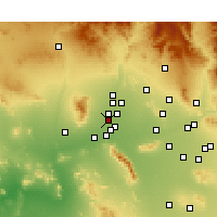 Nearby Forecast Locations - Litchfield Park - Kaart
