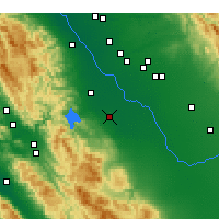 Nearby Forecast Locations - Los Banos - Kaart