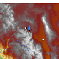 Nearby Forecast Locations - Mammoth Lakes - Kaart