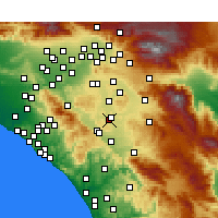 Nearby Forecast Locations - Menifee - Kaart